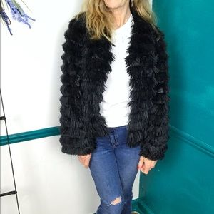 Black faux fur Xhilaration funky boho jacket